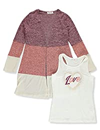 Beautees Girls' Knit Love 2-Piece Top