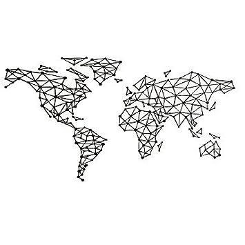 Carte Du Monde Des Formes Géométriques Mural Vinyle Grand