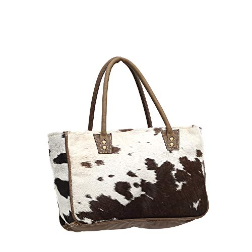 Myra S Bags with Tote Bucket Leather Print 0981 Bag Animal Genuine q6xwP4nzq