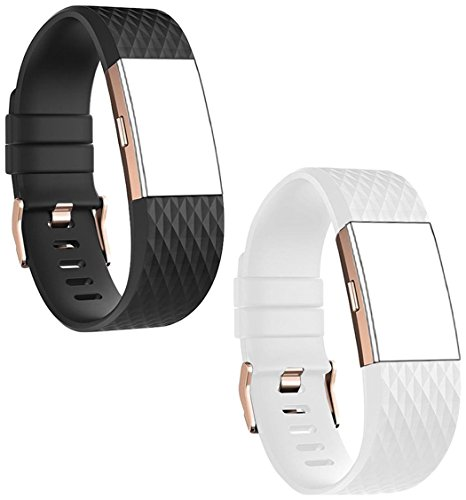 DB Fitbit Charge 2 Bands Rose Gold Buckle,Charge 2 Sport Replacement Bands Lavender, Fitbit Charge 2 Accessory Wristbands Large