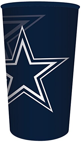Nfl Plastic Football Cup (Creative Converting Officially Licensed NFL Plastic Souvenir Cups, 20-Count, 22-Ounce, Dallas Cowboys)
