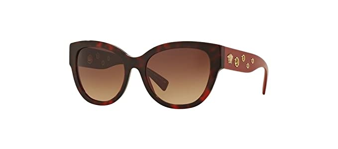 7c94adc2c9 Amazon.com  Versace Women s VE4314 Havana Bordeaux Light Brown ...