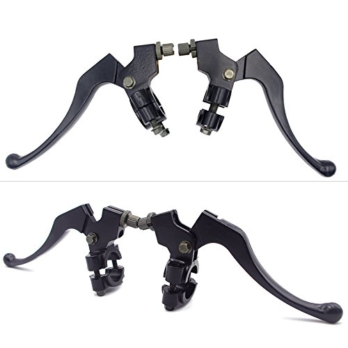 Royitay Full Aluminum Alloy Handle Bars Left Right 7/8'' Clutch Brake Handle Levers Perch For XR80 XR100 CRF70 CRF80 CRF100 Pit Dirt Motor Bike Motocross Motorcycle by Royitay (Image #6)