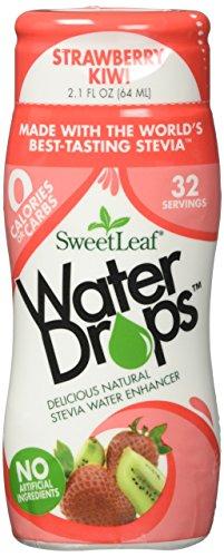 [Sweetleaf Stevia Strawberry Kiwi Waterdrops 2.1 oz(64ml),Pack of 2] (Sweet Strawberry)