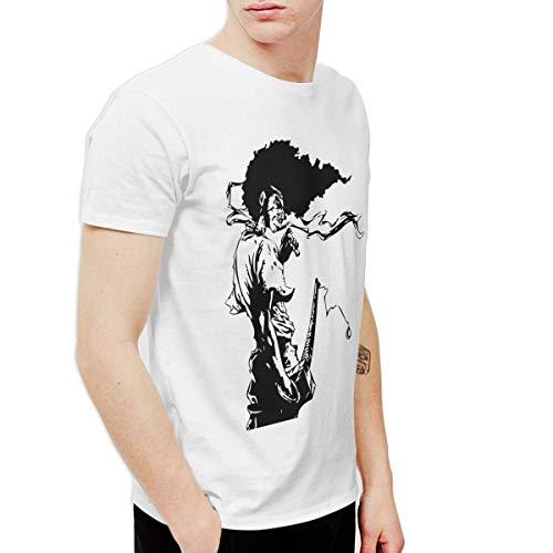 CLANN Afro Samurai Anime Short Sleeve T-Shirt White 6XL]()