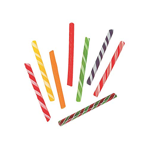 Fun Express - Old Fashioned Sticks (80pc) - Edibles - Hard Candy - Candy Cane & Stick - 80 - Candy Fashioned Sticks Old