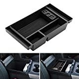 Center Console Organizer for 2019 Chevy Silverado 1500 / GMC Sierra 1500 Accessories ABS Tray Armrest Box Secondary Storage (Full Center Console Models Only)