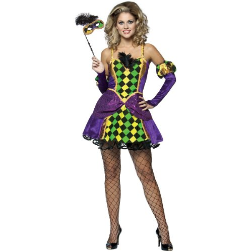 Mardi Gras Queen Costume - Large/X-Large - Dress Size 6-12 -