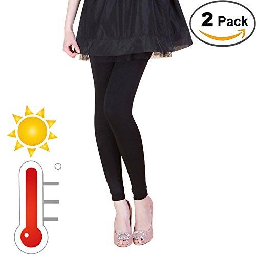 - 41mVtEtidxL - 2packs Women's Thermal Leggings Fleece Lined Casual Tights