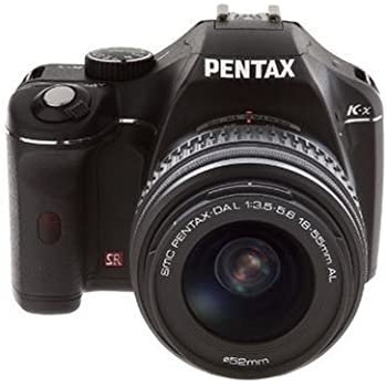 Pentax K-x Digital SLR with 2.7-inch LCD and 18-55mm f/3.5-5.6 AL Lens (Black) (Discontinued by Manufacturer)