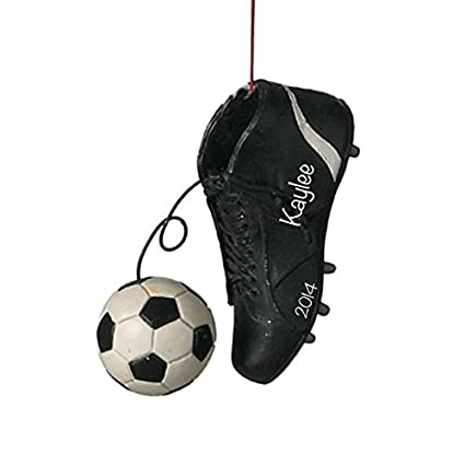 4429857270f3 Amazon.com  Personalized SOCCER Cleats Dangling Ball Ornament  Home    Kitchen