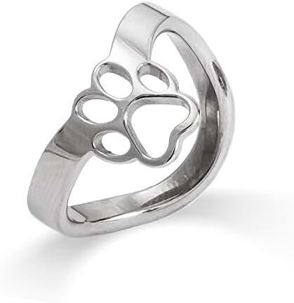 Paw Print Cut Out Thumb Ring