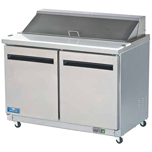 Refrigerated Salad Prep Table - Arctic Air AST48R 48.25-Inch 2-Door Refrigerated Sandwich/Salad Prep Table, 115v