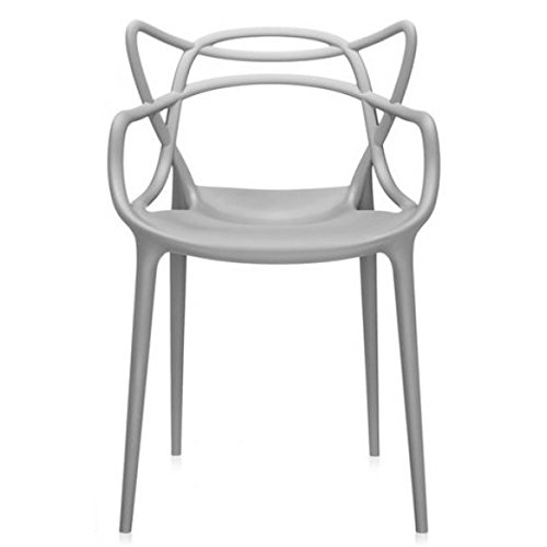 2xhome – Grey Dining Room Chair – Modern Contemporary Designer Designed Popular Home Office Work Indoor Outdoor Armchair Living Family Room Kitchen Bed Bedroom Porch Patio