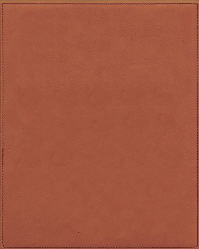 Ridgecrest Rawhide Color Handcrafted Faux Leather Plaque with Stitched Edging, 7 by 9-inch