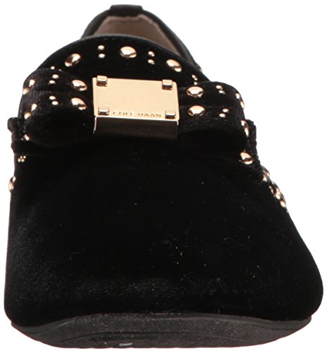 Haan Women's Cole Black Loafer Bow Tali Velvet Stud d5xxwq