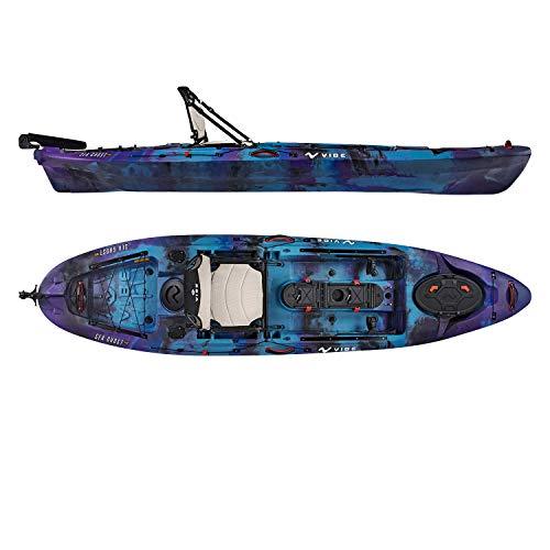 Vibe Kayaks Sea Ghost 110 | 11 Foot | Angler Sit On Top Fishing Kayak with Adjustable Hero Comfort Seat (Smoke Camo)