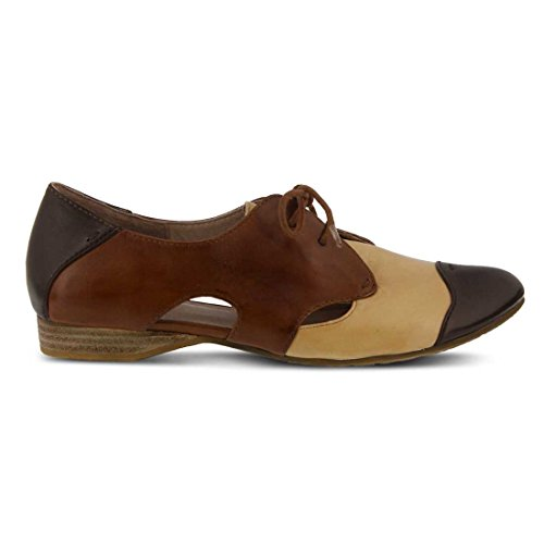 Multi Brown Oxford Cinzano Step Leather Spring Womens qBX1wHx7