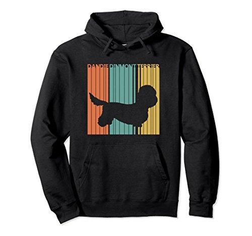 Unisex Vintage Dandie Dinmont Terrier Dog Hoodie XL Black