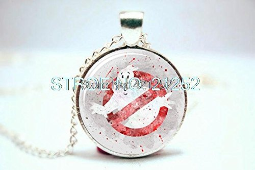 Pretty Lee 2015 Fashion Ghostbusters Art Print Necklace Glass Photo Cabochon Necklace Christmas gift