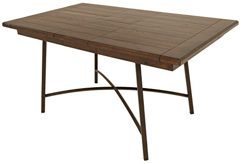 Impacterra Wilshire Rectangular Dining Table, Autumn Rust/Russet Cordovan
