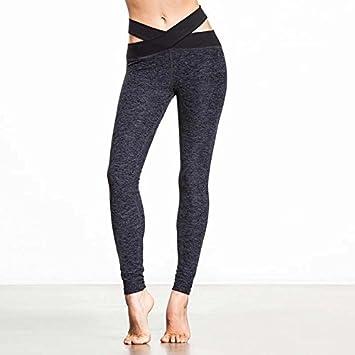 MAYUAN520 Cruz Sexy Cintura Yoga Leggings Mujer Deporte ...