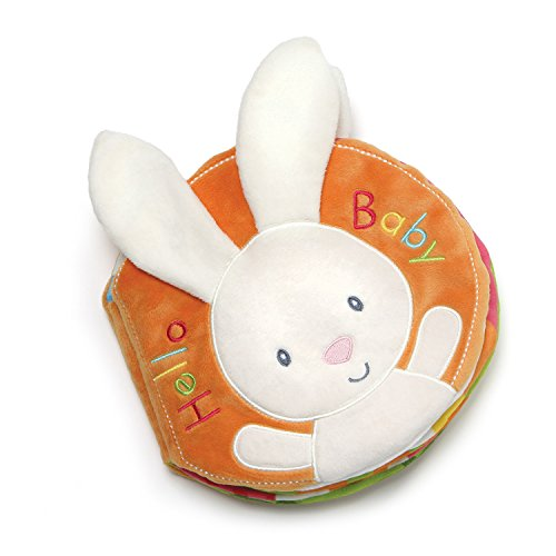 Baby GUND Flora Bunny Soft Plush Activity Book 8