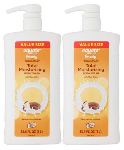 Equate Beauty Total Moisturizing Body Wash Value Size with Shea Butter