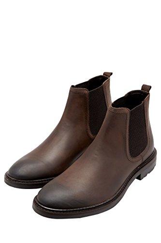 next Herren Waxy Chelsea-Boot Braun