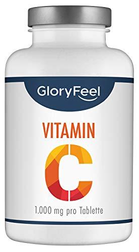 Vitamin C 1000mg Hochdosiert - VERGLEICHSSIEGER 2020* - 200 vegane Tabletten (7 Monate) Unterstützt Nerven- und Immunsystem** - Laborgeprüft ohne Zusätze hergestellt in Deutschland