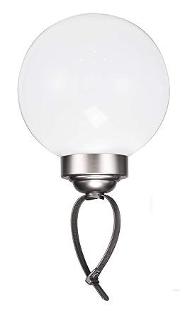 Led Solar Leuchtkugel Mit Erdspiess Und Schlaufe Kugelleuchte 20 Cm