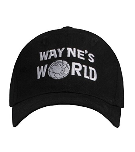 Wayne's World Hat Embroidered Baseball Cap Adjustable Black