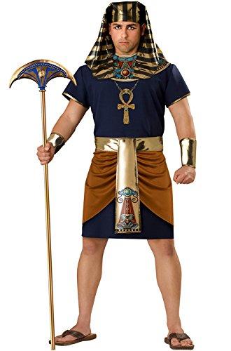 InCharacter Costumes Men's Egyptian Pharaoh Costume, Gold/Blue, 3X