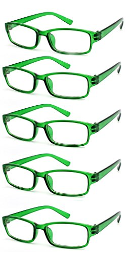 Pack Et 5 Company 00 Confortables 2 1 Lecteurs Style 00 2 50 Reading Slim 1 Designer Légers 5 Womens 75 5 0 The Glasses Pochette Transparent Green Étui 4sold 00 Value 4 Mens 5 0 Avec 3 0PAqI