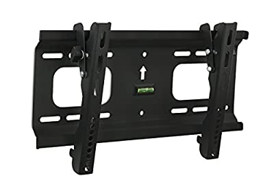 Mount-It! MI-368S Low-Profile Tilting TV Wall Mount Bracket for 32 to 55 inch LCD, LED, OLED, 4K or Plasma Flat Screen TVs Certified 165 Lbs Load Capacity, 1.8 Inch Profile, Max VESA 400x200, Black