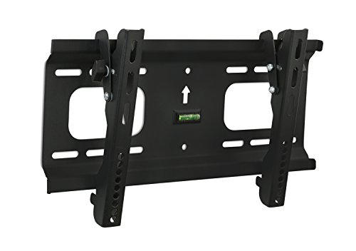 Mount-It! Low-Profile Tilting TV Wall Mount Bracket for 32 to 55 inch LCD, LED, OLED, 4K or Plasma Flat Screen TVs Certified 165 Lbs Load Capacity, 1.8 Inch Profile, Max VESA 400x200, Black (MI-368S/PLB42) ()