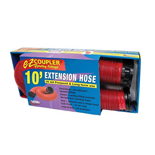 Valterra Red 10 Ft Extension D04-0113 EZ Coupler Hose-10'