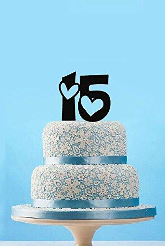 Custom 15th Birthday Cake Topper For Birthday Party Gift