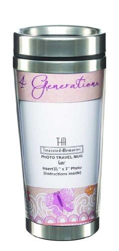 4 Generations Double Walled Photo Travel Mug - Ganz Insulated Travel Mug (Mugs Travel Ganz)