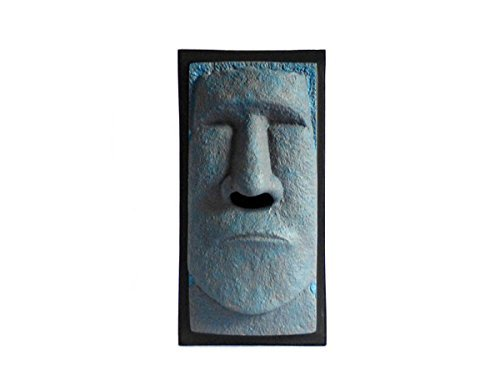 Items Tiki Tissue Box Cover - Tissue Box Cover - The Schnozzz, Tiki Head, Easter Island Head (Blue)