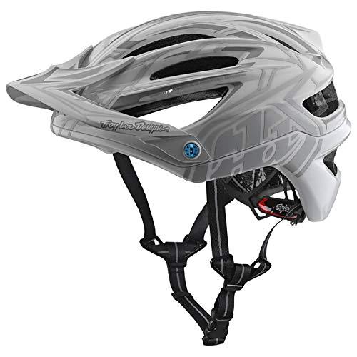 2018 Troy Lee Designs A2 MIPS Pinstripe 2 Bicycle Helmet-White-XL/2XL (Tld Air Helmet)