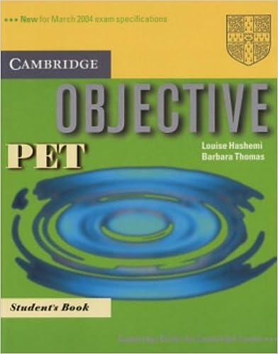 Gratis downloads af lydbøger til mp3 Objective PET Student's Book PDF 0521805783