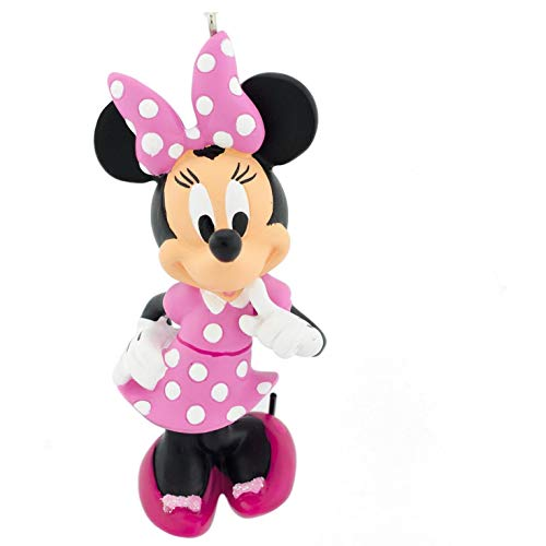 Hallmark Christmas Ornament, Disney Minnie Mouse in Pink White Polka Dot Dress ()