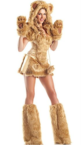 Sexy Bear (Ailisen Sexy Adult Women Animal Bear Costume Furry Bear Role Play Fancy Dress Halloween Costumes)