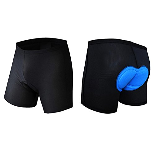kimiless 3D Padded Cycling Short Pants Bicycle Riding Underwear Shorts - Breathable,Lightweight,Men & Women