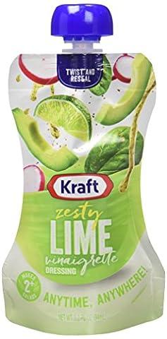 Kraft Brand Dressing Kraft Dressing, Zesty Lime Vinaigrette, 3.2 Ounce (Pack of 10)