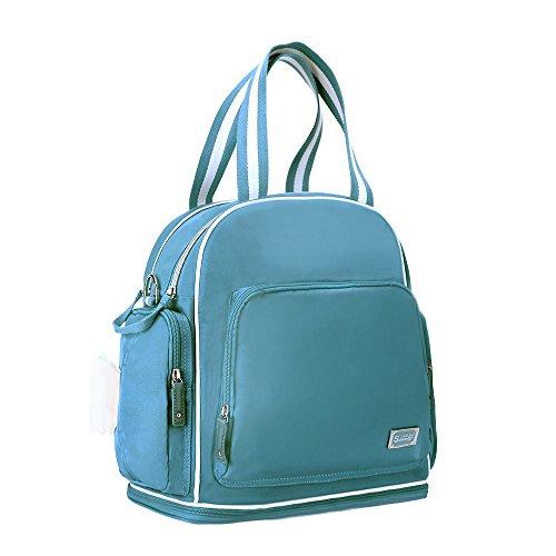 sunveno Bolso de mujer mochila Gran Capacidad momia bolsa bebé diapper Bolsa Mutifunction Maternidad Mochila rosa Talla:L azul