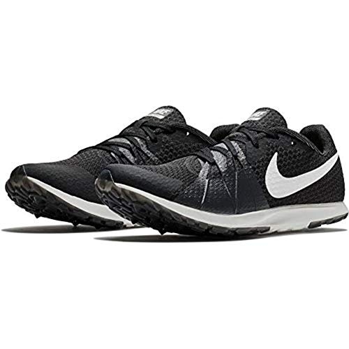 Nike Women's Zoom Rival Waffle Track and Field Shoes (Black/White, 7.5 B(M) US)
