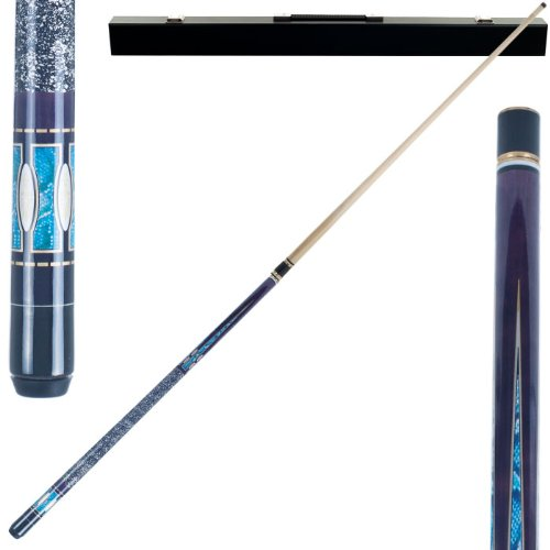2 Piece Hardwood Purple Matrix Design Pool Stick Cue - With Carrying Case! by TMG