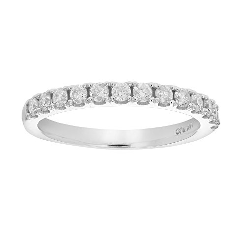 Prong Diamond Wedding Band (1/2 ctw Prong Set Diamond Wedding Band in 14k White Gold in Size 5)